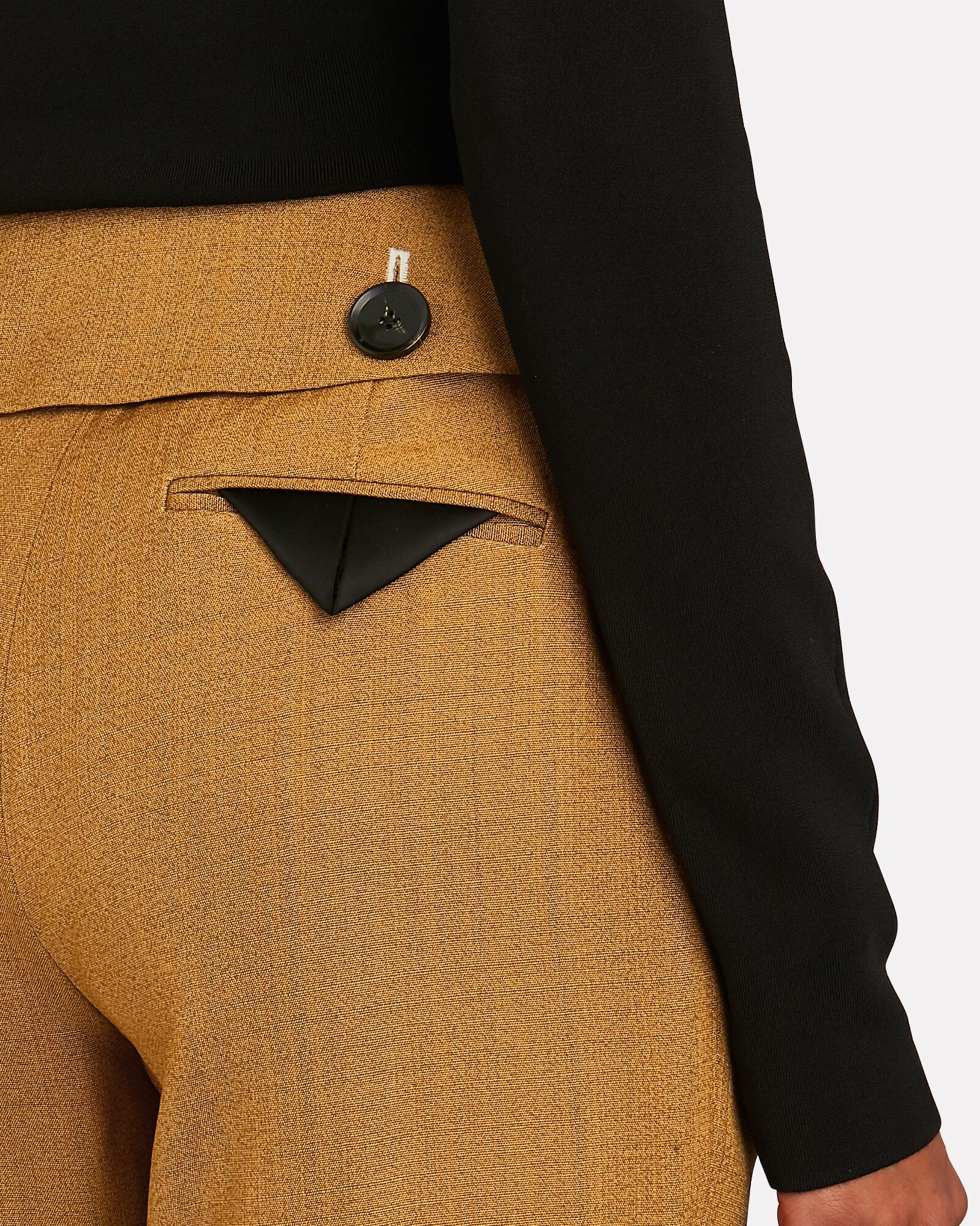 Flared Suiting Trousers, ORANGE, hi-res