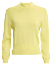 Mock Neck Knit Pull-Over, YELLOW, hi-res