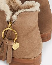 Louise Shearling Flat Booties, BEIGE, hi-res