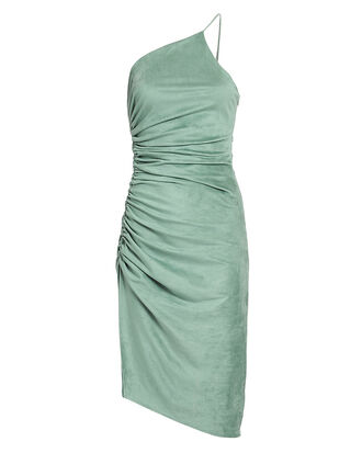 Zarma Ruched Dress, SAGE GREEN, hi-res