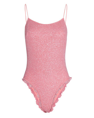 Shine Voila Rhinestone One-Piece Swimsuit, PINK, hi-res