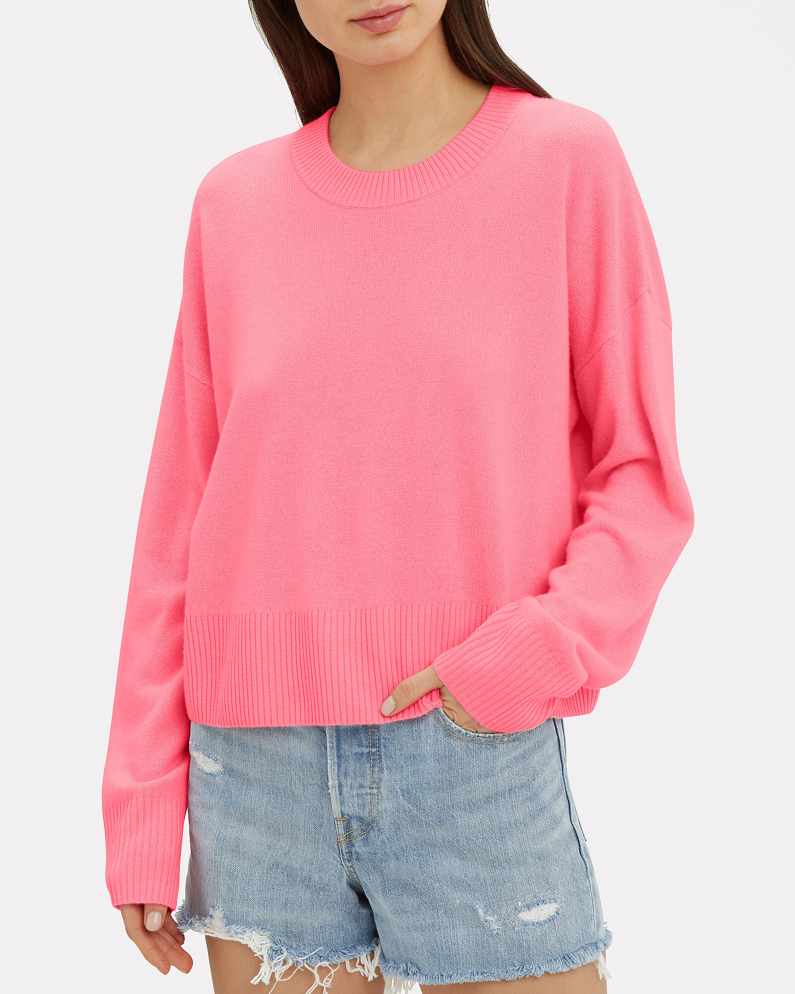 Dilone Wool-Cashmere Sweater, PINK, hi-res