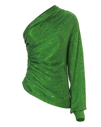 Paley One Shoulder Top, GREEN, hi-res
