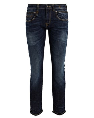 Biker Boy Skinny Jeans, MEDIUM WASH DENIM, hi-res