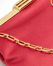 4 AM Satin Berry Small Clutch, PINK, hi-res