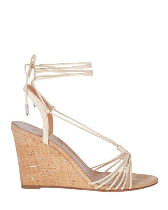 Whisper 85 Cork Wedge Sandals, IVORY, hi-res