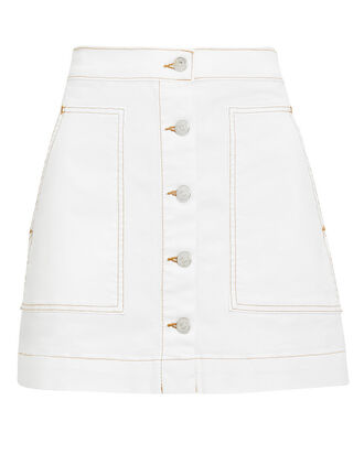 Getty Cargo Mini Skirt, WHITE DENIM, hi-res