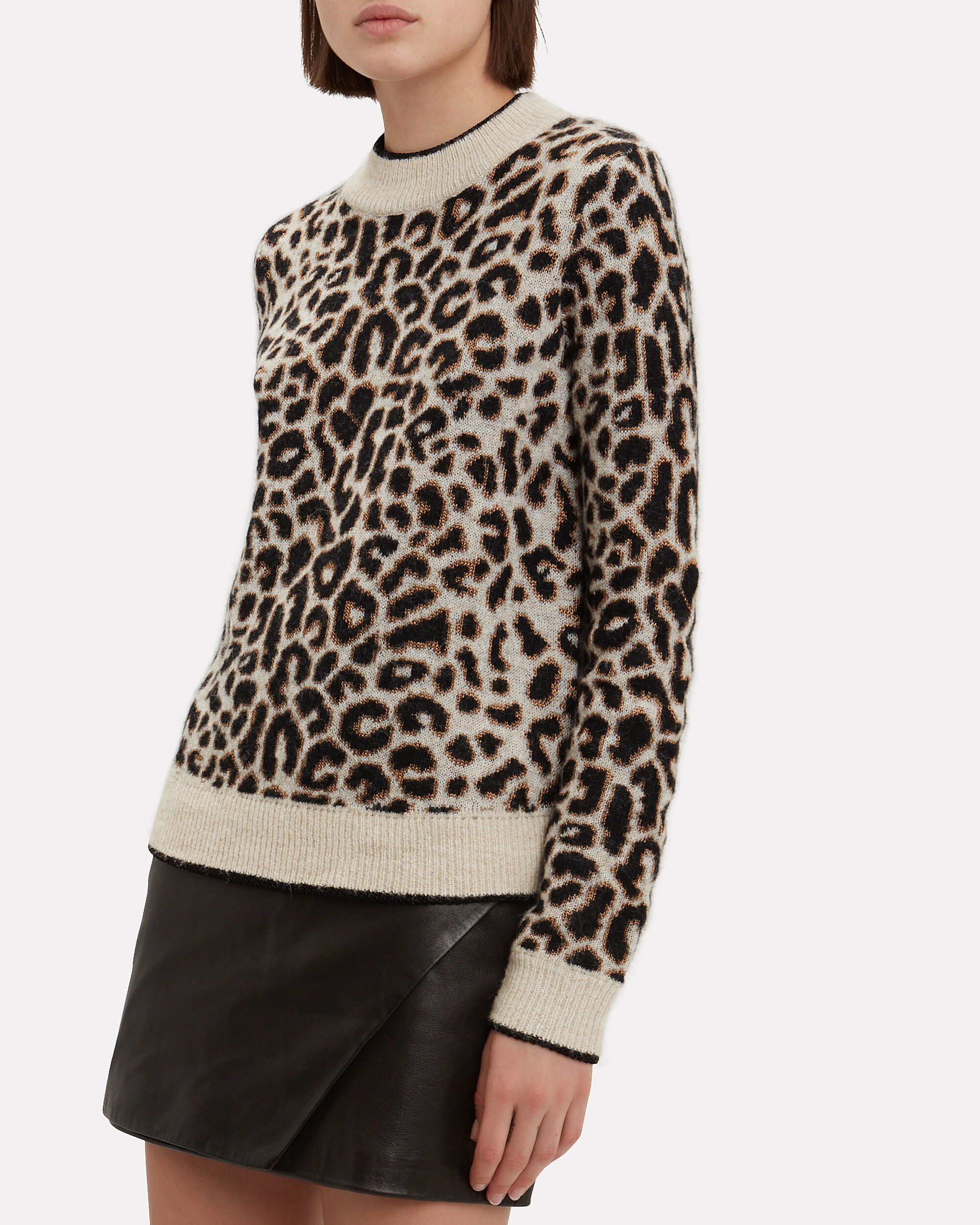 Marly Leopard Sweater, BROWN, hi-res