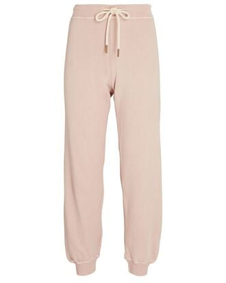 The Cropped Cotton Joggers, PINK, hi-res