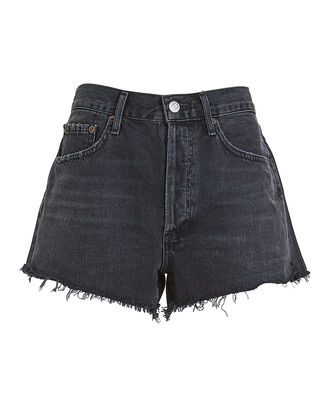 Parker Cut-Off Denim Shorts, FADED BLACK DENIM, hi-res