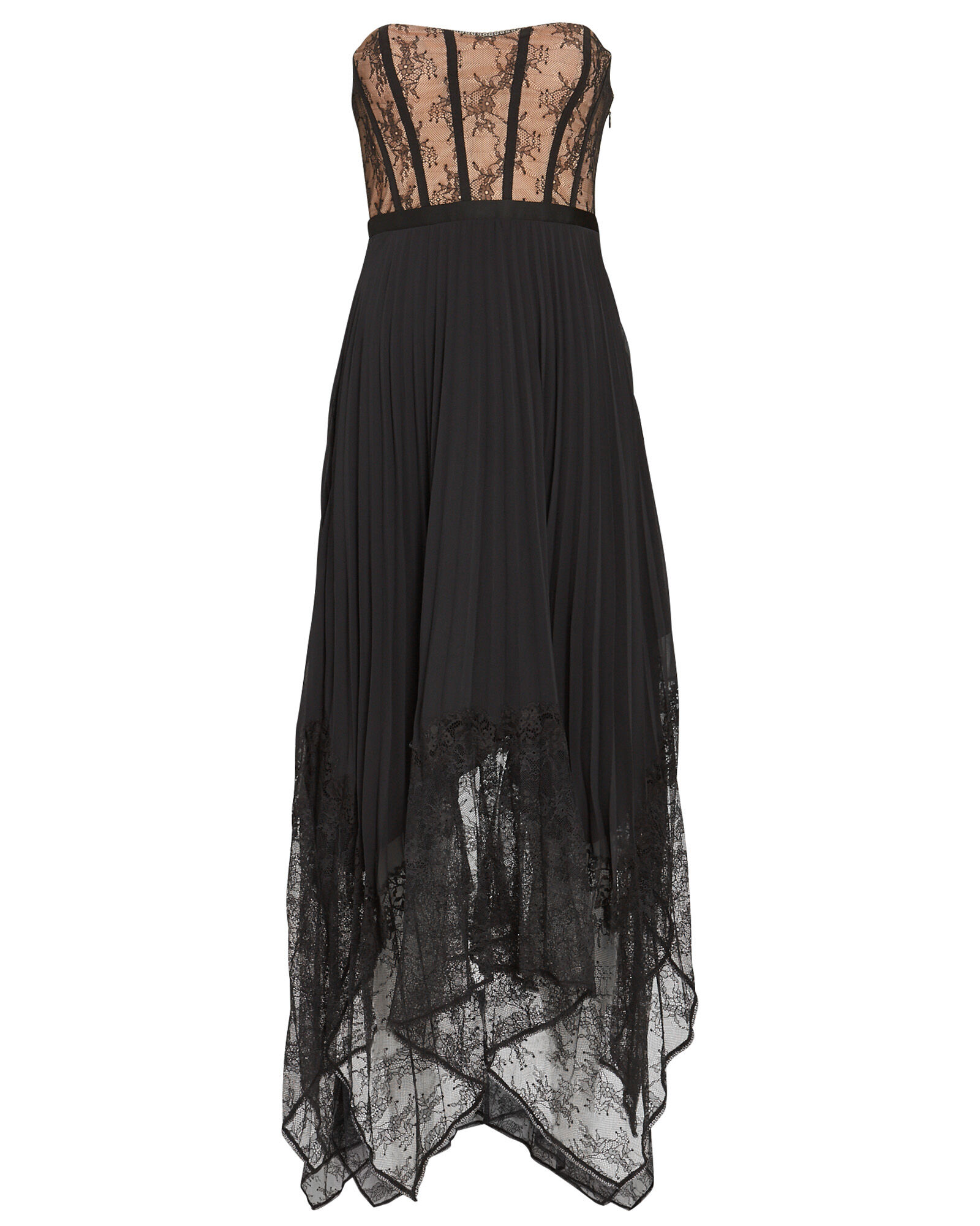 Scarlett Bustier Lace Midi Dress, BLACK, hi-res