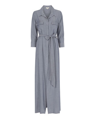 Cameron Chambray Maxi Dress, DENIM, hi-res