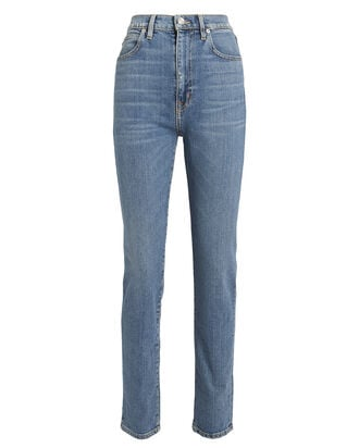 Beatnik Slim High-Rise Jeans, MEDIUM INDIGO DENIM, hi-res