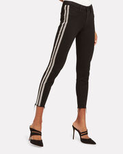 Margot Sequin Stripe High-Rise Ankle Skinny Jeans, BLACK, hi-res
