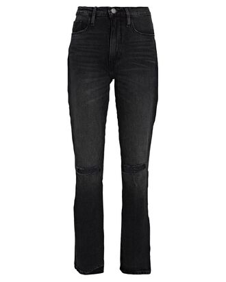 Le Sylvie Distressed Straight-Leg Jeans, WILKINSON RIPS, hi-res