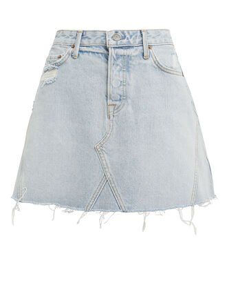 Eva Light Blue Denim Skirt, LIGHT BLUE DENIM, hi-res