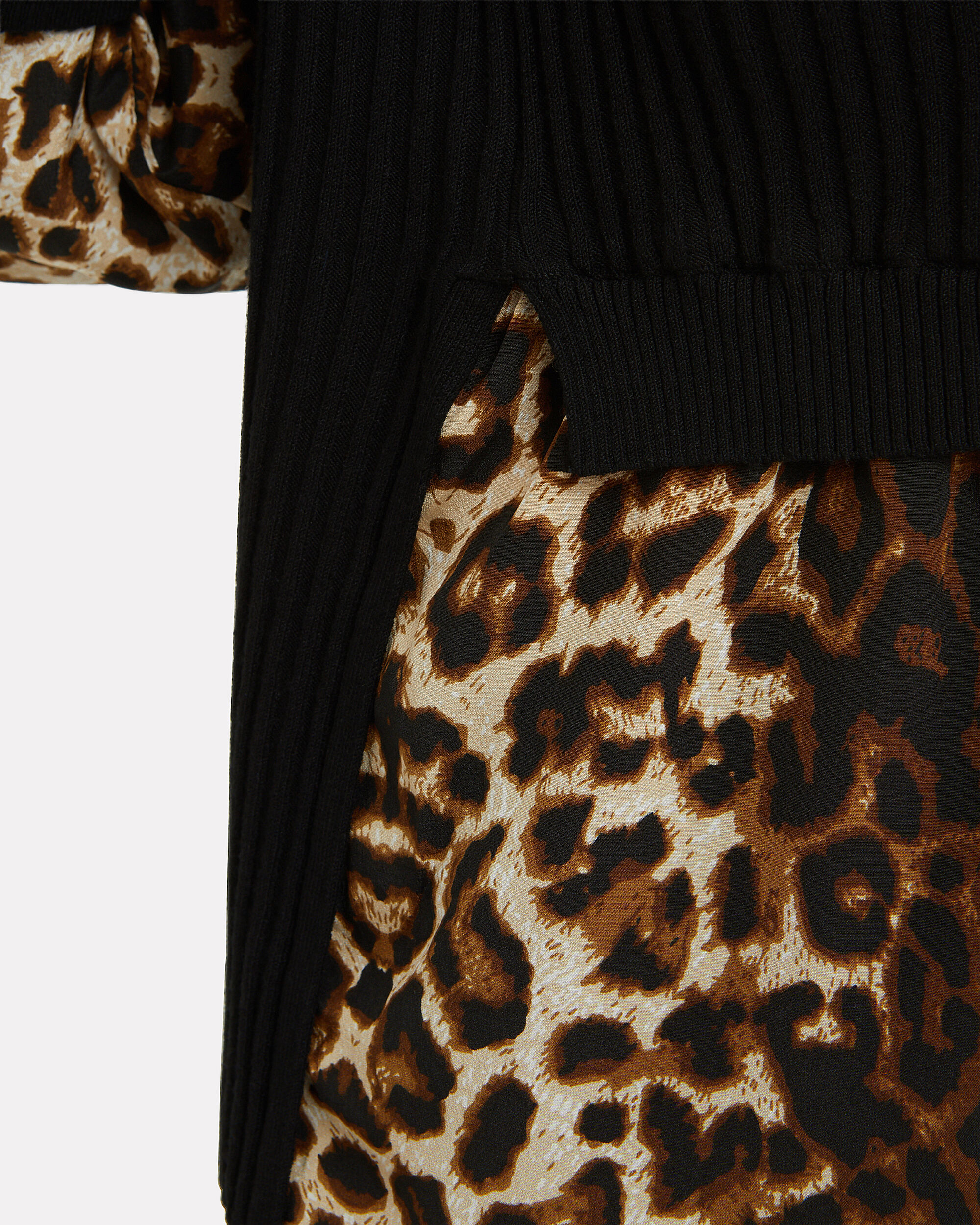 Leopard Combo Moon Sweater, BLACK, hi-res