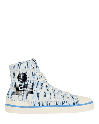 Benkeen Tie-Dye Canvas Sneakers, LIGHT BLUE, hi-res