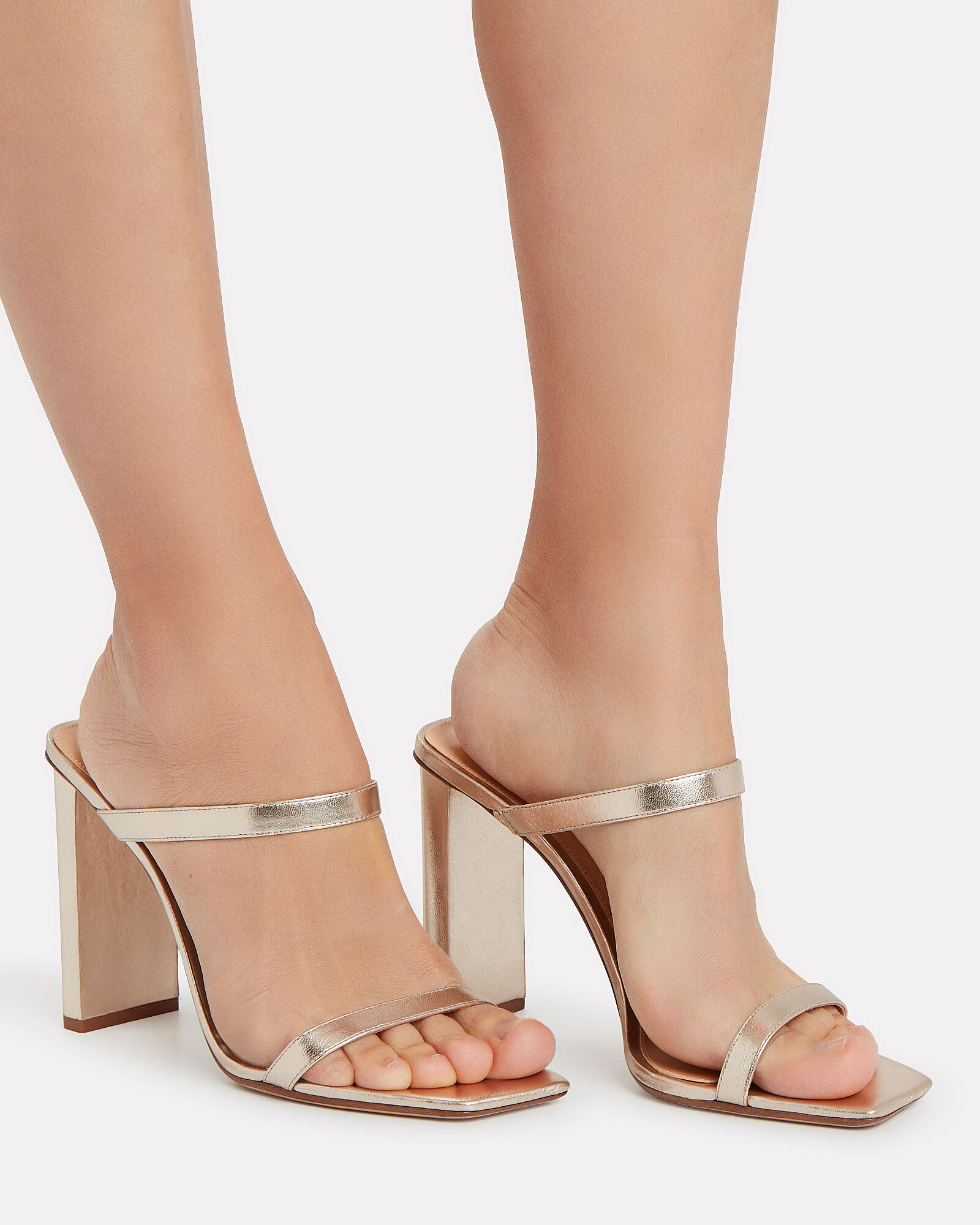 Lally Double Strap Stilettos, GOLD, hi-res