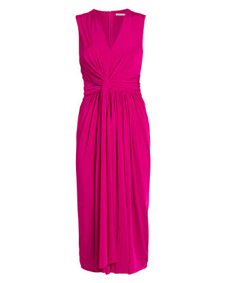 Twist Front Jersey Dress, SHOCKING PINK, hi-res