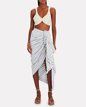 Tulum Ruched High-Low Skirt, BLUE/WHITE, hi-res