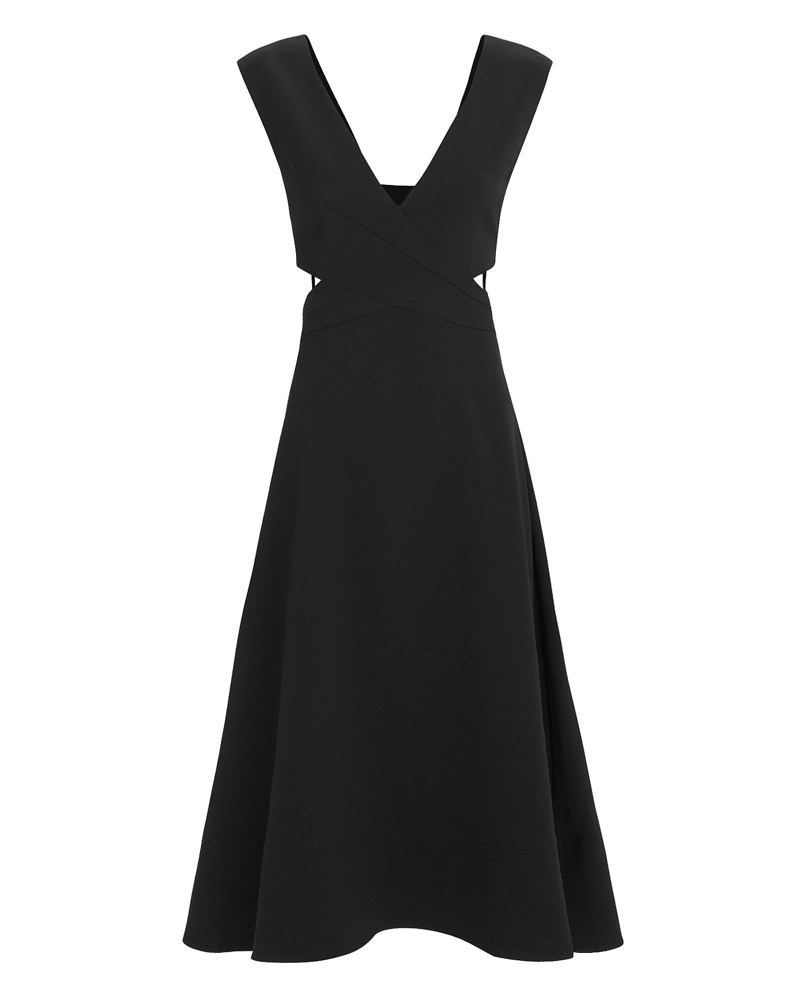 Cutout Black Dress, BLACK, hi-res
