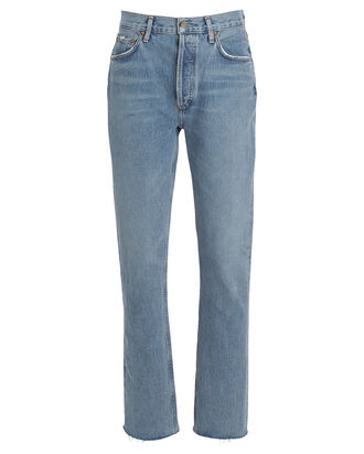 Remy High-Rise Straight Jeans, LIGHT WASH DENIM, hi-res