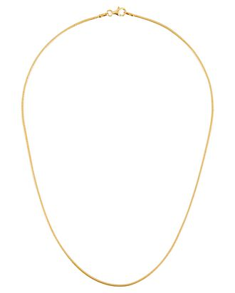 Snake Chain Necklace, GOLD, hi-res