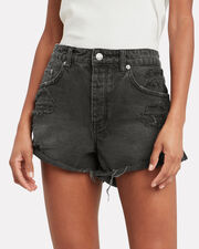 Rollin Out Denim Shorts, BLACK DENIM, hi-res