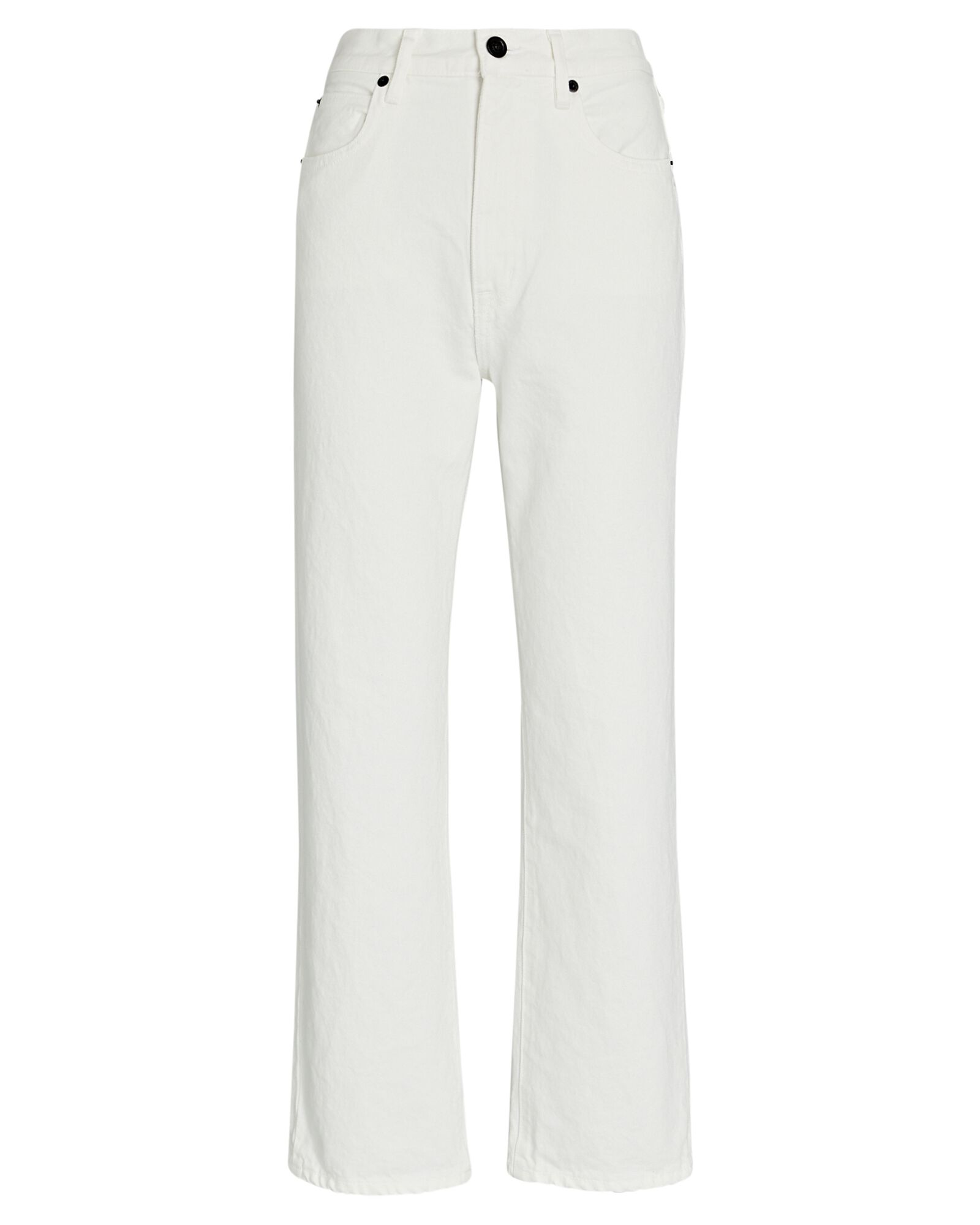 London Cropped High-Rise Jeans, WHITE, hi-res