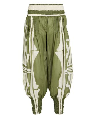 Geografia Botanica Tapered Trousers, GREEN/IVORY, hi-res