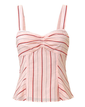 Zuri Striped Voile Tank, MULTI, hi-res