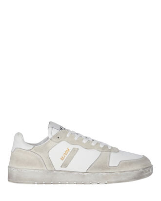 80s Low-Top Basketball Sneakers, WHITE, hi-res