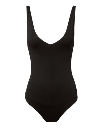 Delicious Double V Bodysuit, BLACK, hi-res
