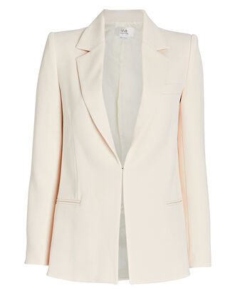Fitted Crepe Blazer, , hi-res