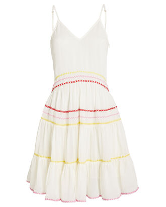 Marieta Embroidered Cotton Dress, IVORY, hi-res