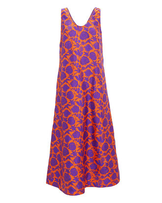 Easy Peasy Floral Dress, ORANGE/PURPLE, hi-res