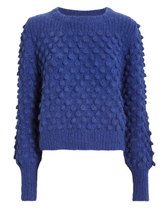 Camilla Blue Pom-Pom Sweater, BLUE-MED, hi-res
