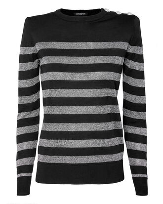Lurex Striped Sweater, BLACK, hi-res