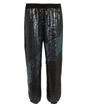 Stacia Sequin Joggers, BLACK, hi-res