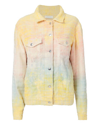 Maloma Tie-Dye Tweed Oversized Jacket, MULTI-LT, hi-res