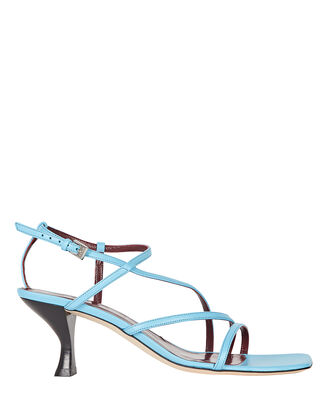Gita Strappy Leather Sandals, BLUE, hi-res