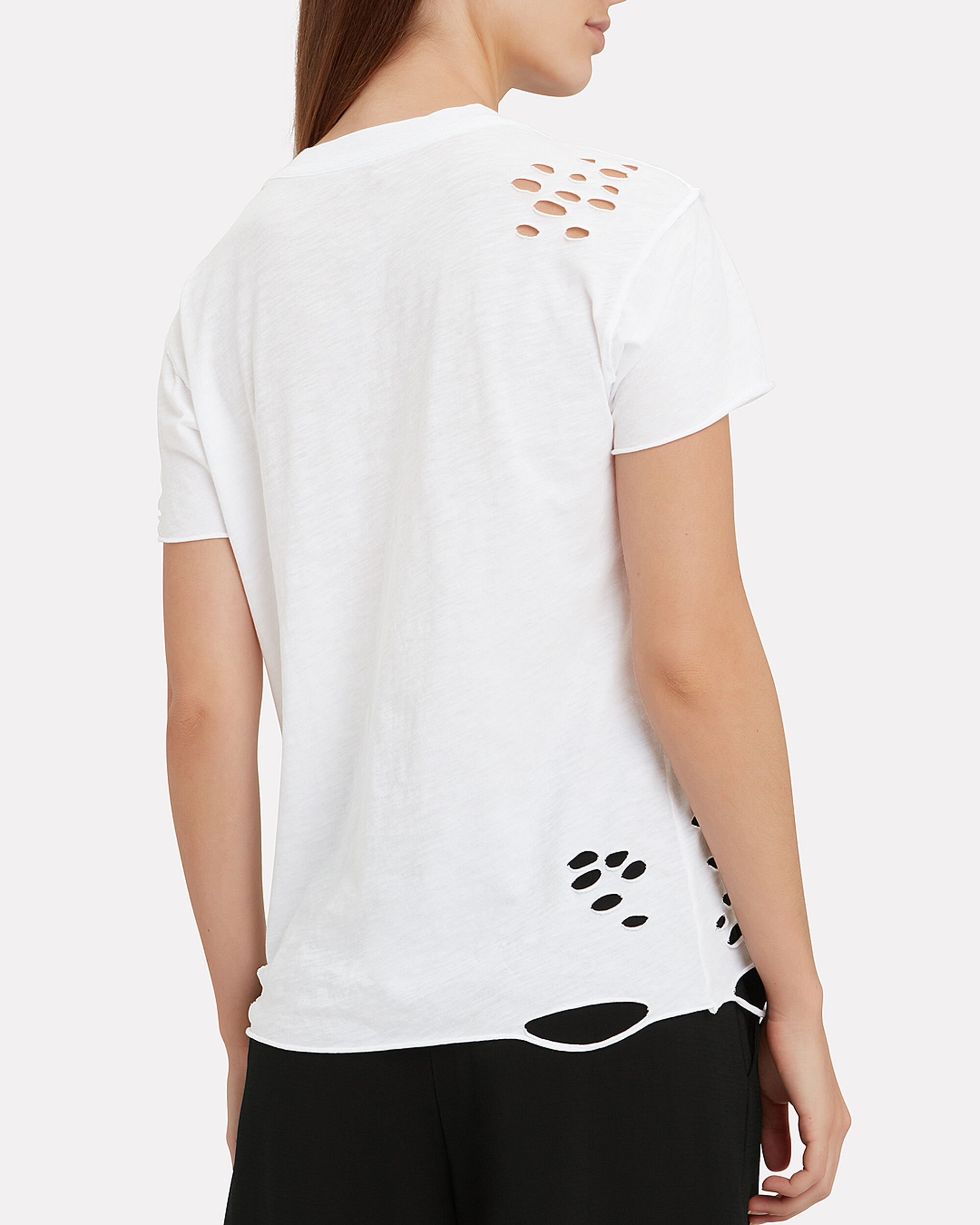 Destroyed White T-Shirt, WHITE, hi-res