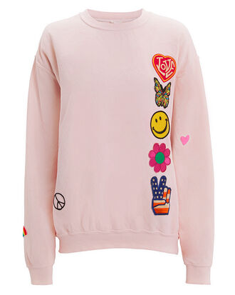 Faded Pink Patch Sweatshirt, PINK, hi-res