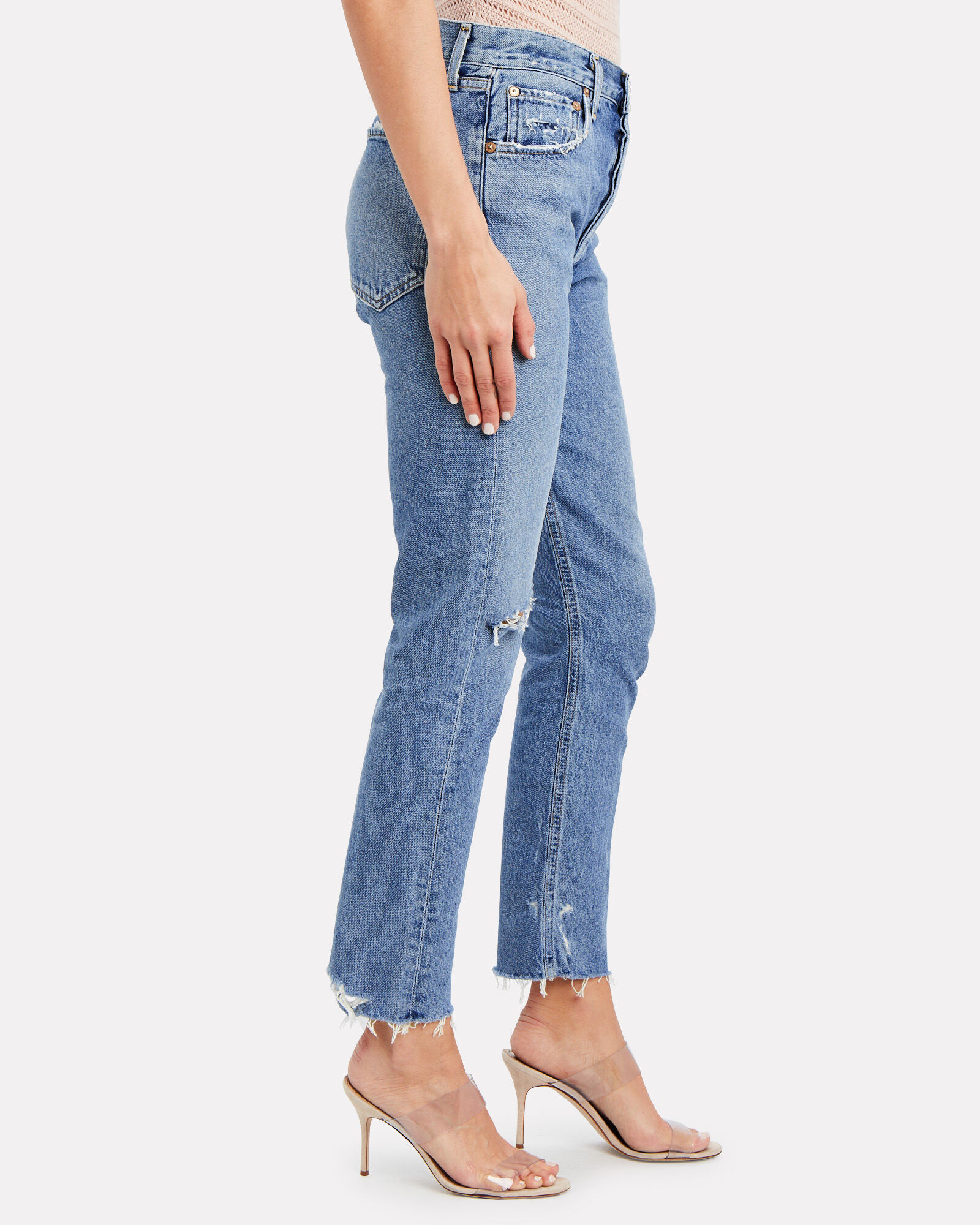 Jamie High-Rise Tapered Jeans, Sizzle, hi-res