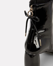 Square Toe Patent Leather Boots, BLACK, hi-res