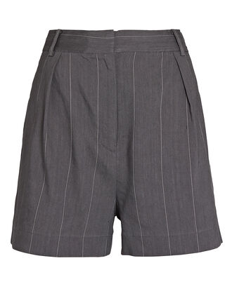 Isselin Striped Shorts, GREY/WHITE, hi-res