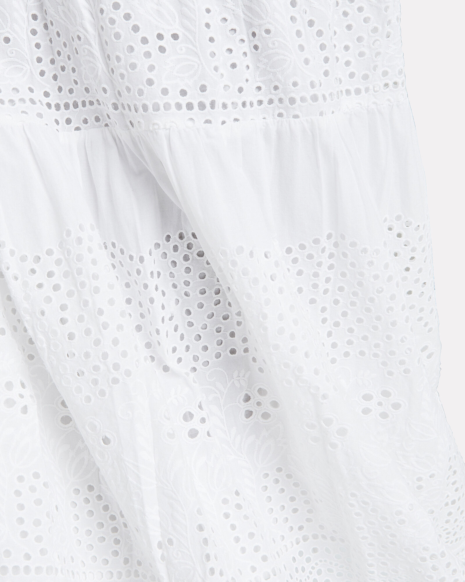 Alessia Cotton Eyelet Skirt, WHITE, hi-res