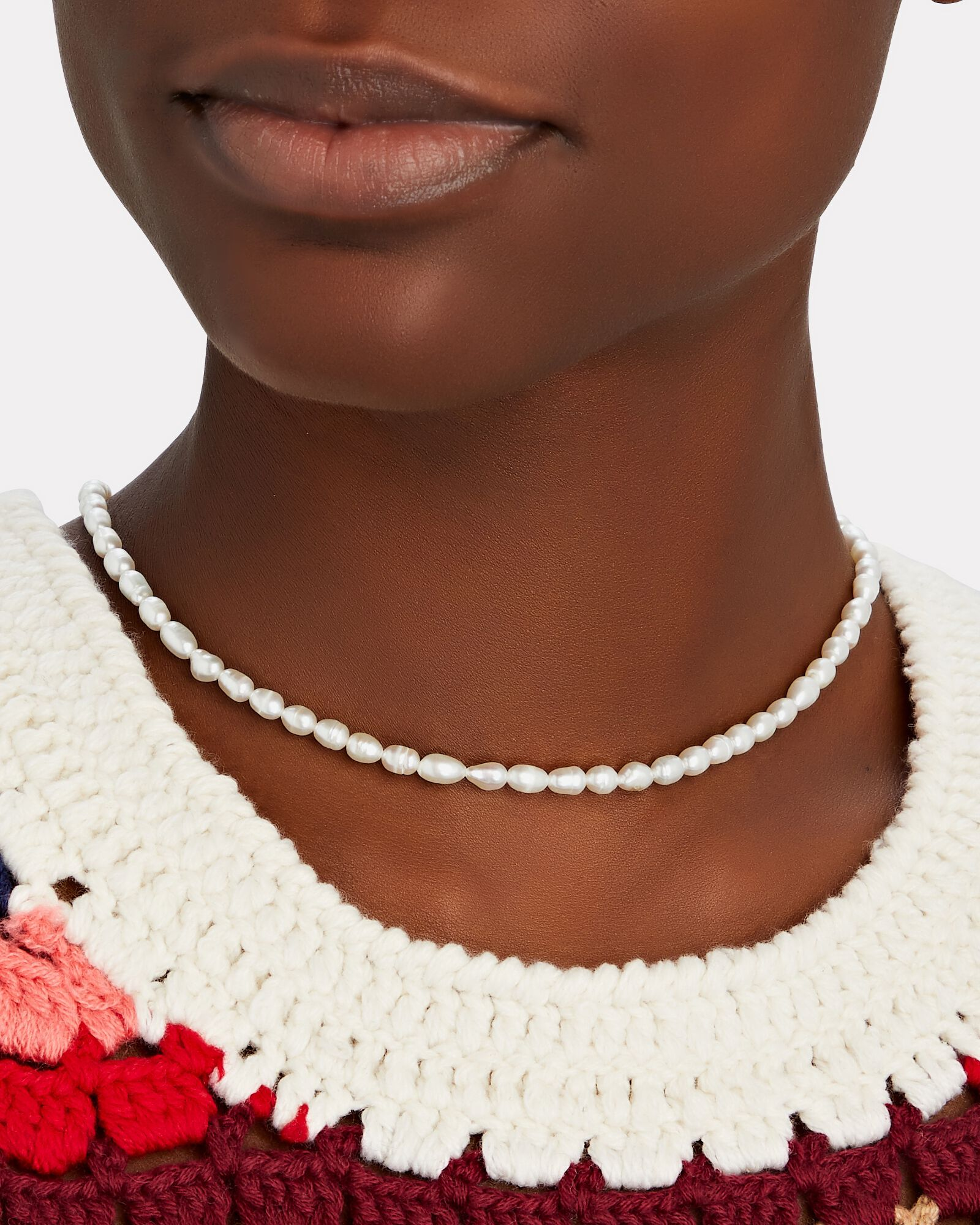 Pearl Beaded Necklace, IVORY, hi-res