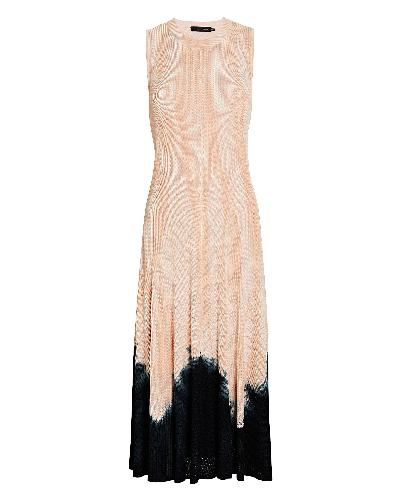 Knotted Tie-Dye Knit Dress, PINK/BLACK, hi-res